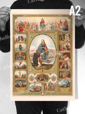 Le Saint Rosaire et ses XV Mystères (A2)