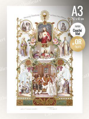 Souvenir de Baptême, Communion, Confirmation (A3)
