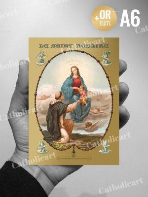 Carte Saint Rosaire et ses XV Mystères (A6)