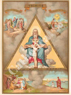 [CAT02] Sainte Trinité (Catéchisme en images 1893)