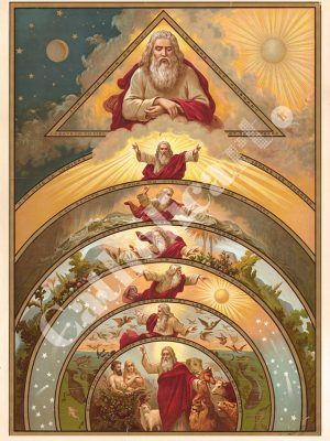[CAT03] CREDO art.1 Je crois en Dieu le Père tout Puissant Créateur du Ciel et de la Terre (Catéchisme en images 1893)