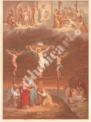 [CAT05] CREDO a été crucifié, est mort sous Ponce Pilate (Catéchisme en images 1893)