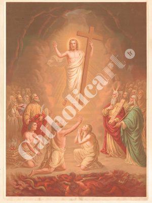[CAT06] CREDO est mort et a été enseveli, est descendu aux enfers (Catéchisme en images 1893)