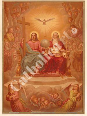 [CAT09] CREDO est assis à la droite du Père Tout Puissant (Catéchisme en images 1893)