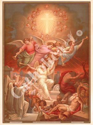 [CAT15] CREDO à la Résurrection de la Chair (Catéchisme en images 1893)