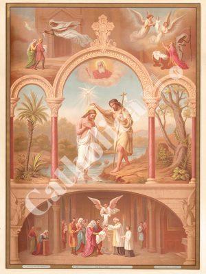 [CAT19] Le Baptême (Catéchisme en images 1893)