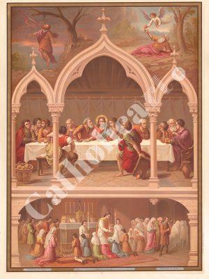 [CAT20] L'Eucharistie (Catéchisme en images 1893)