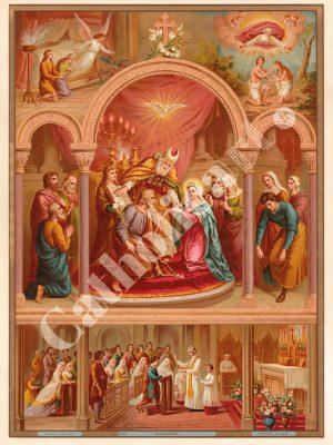 [CAT25] Mariage (Catéchisme en images 1893)
