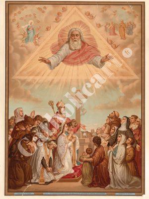 [CAT27] 1er Commandement : Un Seul Dieu tu adoreras (Catéchisme en images 1893)
