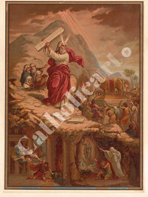 [CAT28] 1er Commandement : Un Seul Dieu tu adoreras (Catéchisme en images 1893)