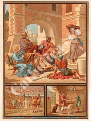[CAT29] 2e Commandement : Dieu en vain tu ne jureras (Catéchisme en images 1893)