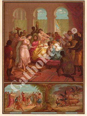[CAT30] 2e Commandement : Dieu en vain tu ne jureras (Catéchisme en images 1893)