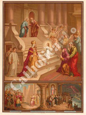 [CAT31] 2e Commandement : Dieu en vain tu ne jureras (Catéchisme en images 1893)