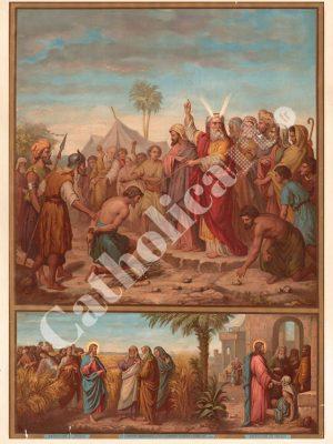 [CAT33] 3e Commandement : Les dimanches tu garderas (Catéchisme en images 1893)