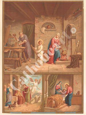 [CAT34] 4e Commandement : Père et Mère honoreras (Catéchisme en images 1893)
