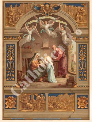 [CAT36] 4e Commandement : Père et Mère honoreras (Catéchisme en images 1893)