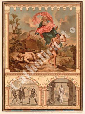 [CAT38] 5e Commandement : Homicide point ne sera (Catéchisme en images 1893)