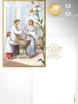 Carte Baptême (58x90mm Recto/Verso)