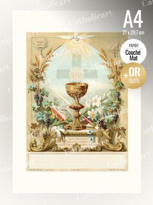 Souvenir de Communion, Confirmation (A4)