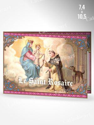 Dépliant Le Saint Rosaire et ses XV Mystères et litanies de la Sainte Vierge (74x105mm 4pages)