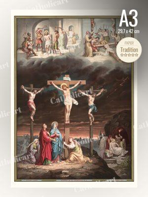 Catéchisme en Images #05 – Credo – Est mort et a été enseveli (A3)