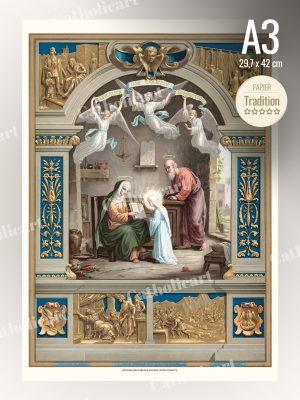 Catéchisme en Images #36 – Commandement de Dieu – … Père et Mère tu honoreras … (A3)