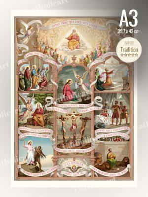 Catéchisme en Images #53 – Notre Père : Oraison dominicale – PATER NOSTER (A3)
