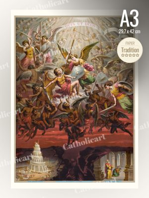 Catéchisme en Images #59 – Saint Michel – 1er péché capital : l'Orgueil (A3)