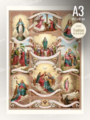 Catéchisme en Images #54 – Je vous salue Marie : Salutation Angélique – AVE MARIA (A3)