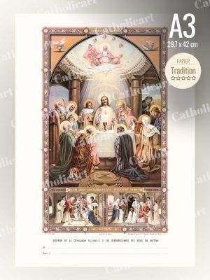 Souvenir de Communion solennelle et de renouvellement des voeux du Baptême (A3)